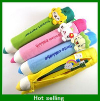 Wholesale Children s Cartoon Pencil Case kid Cute Pen School Bag Soft Plush Cartoon Pencil Purse