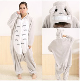 Wholesale KIGURUMI Totoro Cosplay Costume Animal Pajamas Adult Costume Christmas Gift sizes