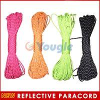 Wholesale New Reflective Paracord Parachute Cord Lanyard Strand Core ft