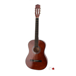 Wholesale 38 quot Acoustic Guitar Brown Pick Chord Ship From USA Y00470