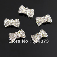 Round arts crafts silver - 100pcs D X9MM Silver Tone Clear Crystal Beads Charm Nail Art Salon Tips Craft Beauty DIY Desig