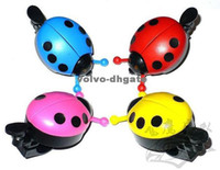 Horn   Fashion Bike Bicycle bell Mini Ladybug Ring Bell metal 4 colors 100pcs lot DKHA616