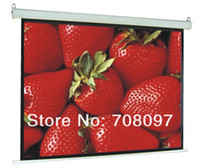 Wholesale 106 inch RC Motorized Projection Screen matt white electric projector screen Fedex free ship