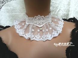 Wholesale Retro palace white false collar fake cuff women with jewelry princess lace collar Choker fake collar