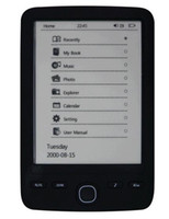 wholesale e book - 6inch e book reader E INK display Built in GB Level Grey Scale ebook eink reader