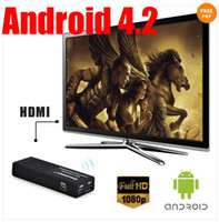 Wholesale TOP Android MK808b Bluetooth TV Stick Dual Core A9 GHZ CPU GB DDR3 GB Flash HDD Mini PC
