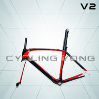 Wholesale latest FM099 carbon fiber aero road bicycle light weight frame set V2