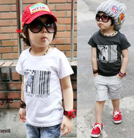 Wholesale New arrived Fashion Casual Printed T Shirts Kids Summer Round Neck Shirts Children Clothing Short Sleeve T Shirt