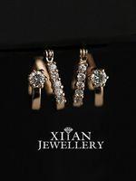 Wholesale Nice K Rose Gold Plated Swarovski Crystals Hoop Earrings E626