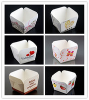 Wholesale High temperature square Cake paper Cups Cake Mold Muffin Cup cupcake Ice cream cups