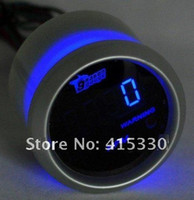 Wholesale In stock new NEW quot mm UNIVERSAL DIGITAL BLUE LED TACHOMETER TACHO GAUGE CAR MOTOR