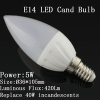 Wholesale W E14 ceramic led Candle bulb lamp light LED led light x