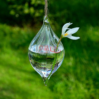 Wholesale EMS Clear Glass Ball Christmas Ornaments Hanging Glass Vases For Home Wedding Decorations