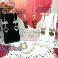 Wholesale Earring Displays Necklace pendant Display Stand Black white Acryl Jewelry holder cheap showcase case