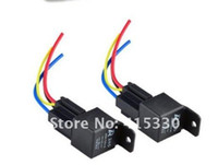 Wholesale In stock Car Auto Truck V Volt DC A AMP Relay amp Socket SPDT Pin