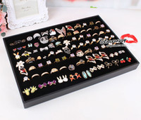 Ring tray wooden tray - Ring Necklace Tray Display Jewelry bracelets Studs Trays Display Holder cheap jewelry showcase case