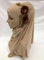 Wholesale 2013 Muslim scarf fashion scarf hat new with Diamond new design Scarf hijab headscarf caps