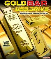 gold bars - 64GB Gold bar USB Flash Memory Pen Drive Drives Sticks Disks GB Pendrives Thumbdrive