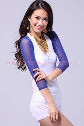 Wholesale quot Belly dance top tees costume dancing wear Tribal Shoulder mesh shirt arm sleeve cuff waistcoat