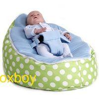 Wholesale Green Polka Blue Baby Seat newborn baby beanbag doomoo seat and sofas