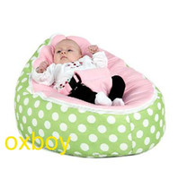 Wholesale Green Polka Pink Baby Seat baby chair baby sleeping beanbag doomoo bean bag