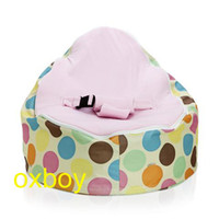 Wholesale Serendipity Pink baby seat round bubbles baby beanbag baby portable bed and sofa