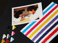 Wholesale 2013 Brand New Paste Style Album Corner Paste Stickers Colors Available