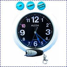 HK POST Free Shipping 4GB HD Wall Clock spy Camera with Remote Control mini clock spy camcorder