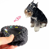 Wholesale 240 Squeaky Rubber Tire Dog Toy New Squeak Chew Toys Dogs Animal Sound Tyre Toy