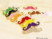 Wholesale Best Multicolor Vintage Handlebar Big Beard Mustache Moustache Double Finger Adjustable Ring