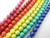 Wholesale 10mm Howlite Turquoise Gemstone Loose Beads Fit Jewelry Making Findings