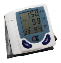 Wholesale Clearance Sale Portable Home Digital Wrist Blood Pressure Monitor Heart Beat Meter with LCD Displa WITHOUT BOX