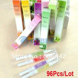 Wholesale 96Pcs Essential Nail Care Cuticle Oil Mixed Fruit Flavor Nail Cuticle Revitalizer Oil Free Shipp