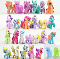 other New Year  My little pony Loose Action Figures toy 4-6CM Pony Littlest Figure Xmas Gift For Kids Free shipping