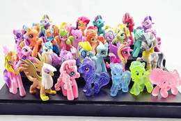 Wholesale My little pony Loose Action Figure toys CM Pony Littlest Figures Doll Xmas Gift