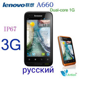 Wholesale Dual SIM the original Lenovo A660 phone three anti cell phone IP67 dual core G CPU