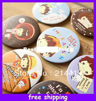 Wholesale Cute Cartoon Pocket Makeup Compact Cosmetic Mirror fast delivery