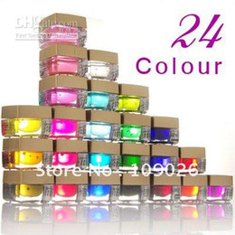 Wholesale 24 COLORS UV BUILDER GEL FOR NAIL ART TIPS Nails