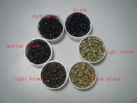 1 pot-1000pièces 5.0mm * 2.8mm * 3.0mm Micro Bagues silicone / Liens / Perles pour les extensions de cheveux trousse 6 C