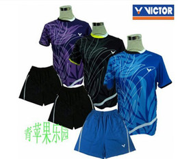 Wholesale 2013 new summer men s victory badminton clothing sports suit shirt Shorts