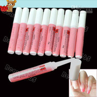 Base coat Gel acrylic pink tips - 100pcs Pink Nail Glue g Mini Professional Beauty Nail Art Acrylic Glue Decorate Tips