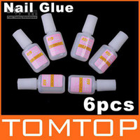 Base coat Gel Clear uv gel 80g 6pcs NAIL GLUE With BRUSH False French Tips Nail Art, Free Shipping, Dropshipping