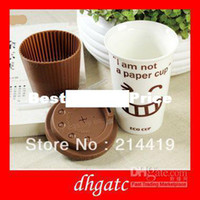 Wholesale I am not a Paper Cup brand new Eco Cup Ceramic Mug Coffee Cups birthday Gift best Craft Insulation