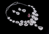 Wholesale Parure luxury diamond bridal sets of chain crown jewelry Korean wedding accessories headdress