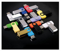 Wholesale 2pcs GB Real Capacity Swivel Metal Memory stick USB Flash Pen Drive
