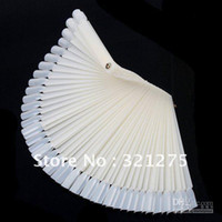 Wholesale Ivory White Plastic Flase Nail Art Tips Stick Display Practice Fan Board amp Nail Ar