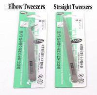 Wholesale cm Stainless Steel Precision Tweezers Elbow Straight Styles Manicure amp