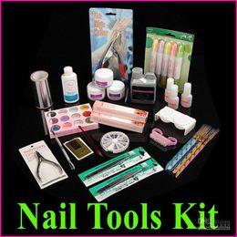 Wholesale Professional Manicure Pedicure Nail Art Salon Tool Full Acrylic Liquid Powder Glue Kit Set Free Ship