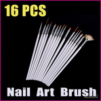 Wholesale 5 sets White Nail Art Design Pen Dotting Tools Painting Nail Tools Brush Set