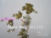 Wholesale MS Metal Gold Bow Nail Art Metal Sticker Nail Art Decoration Fancy Outlooking
